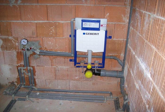 Montáž vodoinstalace